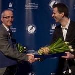 Łukasz Cieśla, laureat Nagrody Fikusa 2013 i Bogdan Wróblewski laureat Nagrody Specjalnej 2013