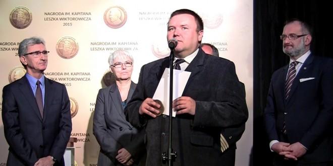 Kapitan Wojciech Maleika odebrał Nagrodę im. Kapitana Leszka Wiktorowicza 2015