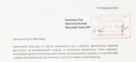 List Redaktorów Naczelnych do Marszałka Sejmu