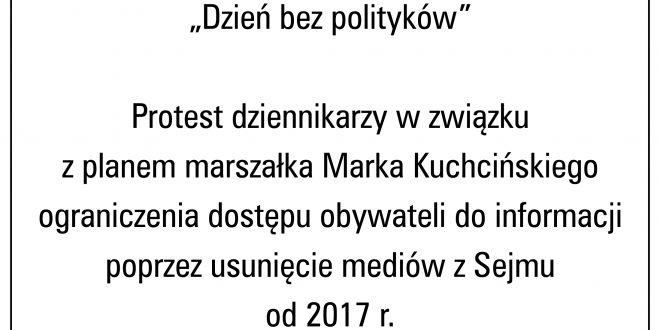 Dzień bez polityków – protest dziennikarzy